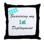 USCG Wife Surviving 1st Deployment  Throw Pillow