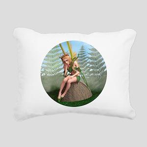 Fairy Butterfly Rectangular Canvas Pillow