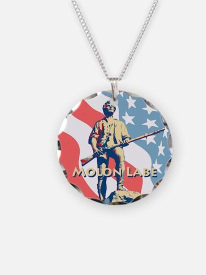 Molon Labe Minute Man Necklace