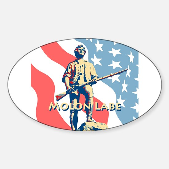 Molon Labe Minute Man Sticker (Oval)