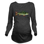 European perch c Long Sleeve Maternity T-Shirt