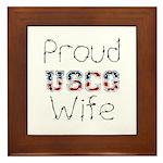 Proud USCG Wife Framed Tile