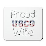 Proud USCG Wife Mousepad