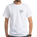 Proud USCG Wife White T-Shirt