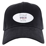 Proud USCG Wife Black Cap