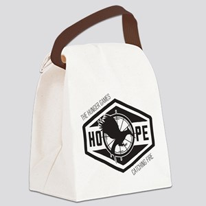 Mockingjay Hope Black Canvas Lunch Bag