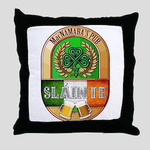 MacNamara's Irish Pub Throw Pillow