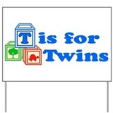 Twin baby Yard Signs