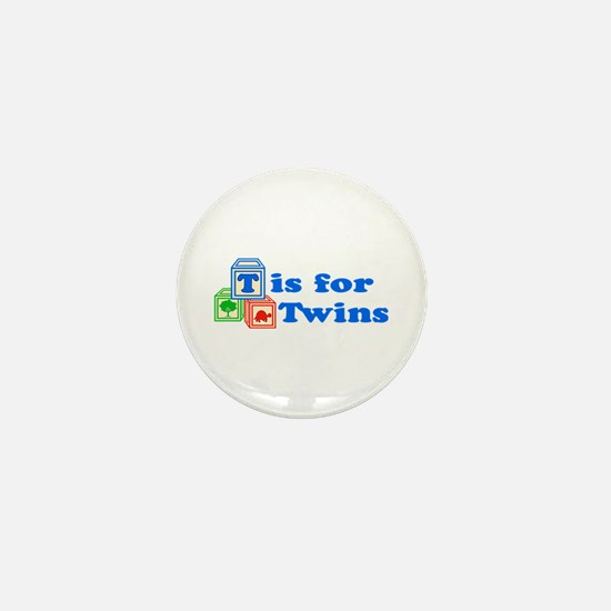 T is for Twins Mini Button