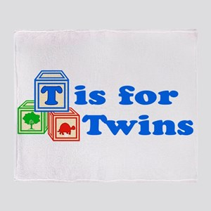 T is for Twins Throw Blanket