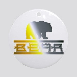 Bear Pride Bear Ornament (Round)
