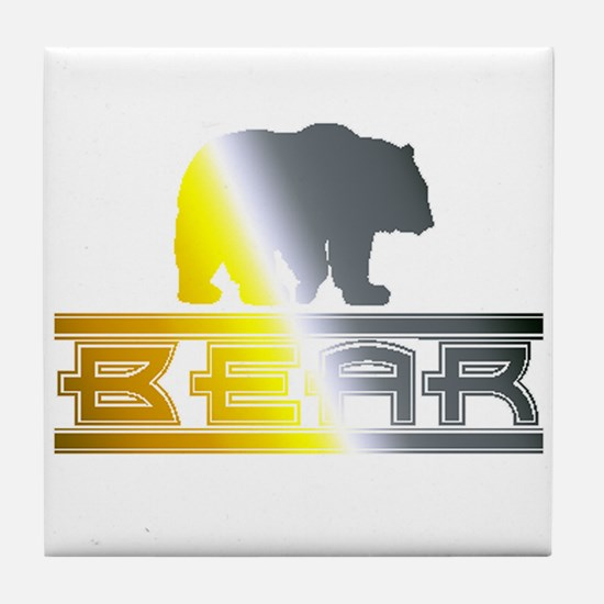 Bear Pride Bear Tile Coaster