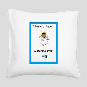 Boy Angel Square Canvas Pillow