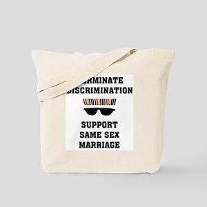 Terminate Gay Discrimination Tote Bag
