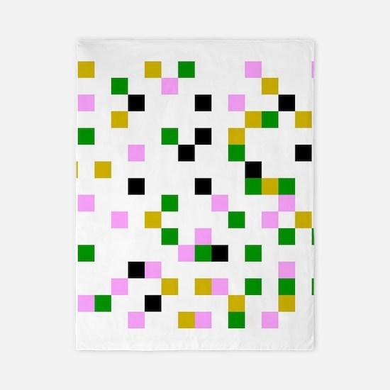 pixel white Twin Duvet