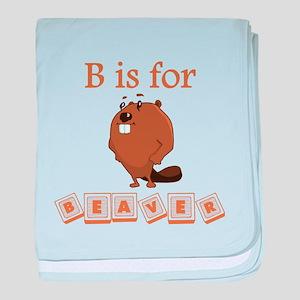 B Is For Beaver baby blanket