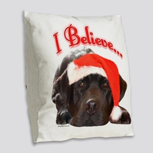 LabIBelieve Burlap Throw Pillow