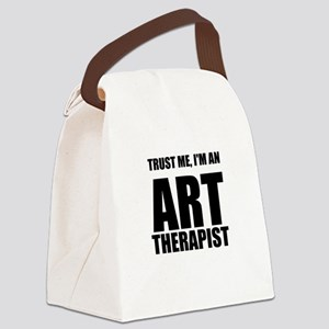 Trust Me, Im An Art Therapist Canvas Lunch Bag