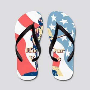 Honor Our Veterans Flip Flops