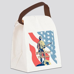 Honor Our Veterans Canvas Lunch Bag