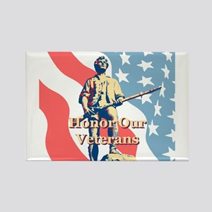 Honor Our Veterans Rectangle Magnet