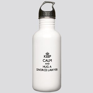 Keep Calm and Hug a Divorce Lawyer Water Bottle