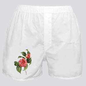 Vintage Flowers Camellias by Redoute Boxer Shorts