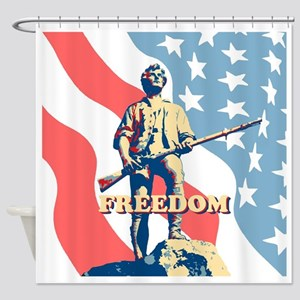 Minute Man Freedom Shower Curtain