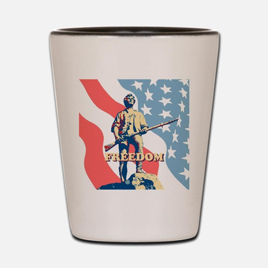 Minute Man Freedom Shot Glass