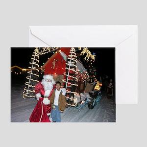 Santa and Jack Greeting Card