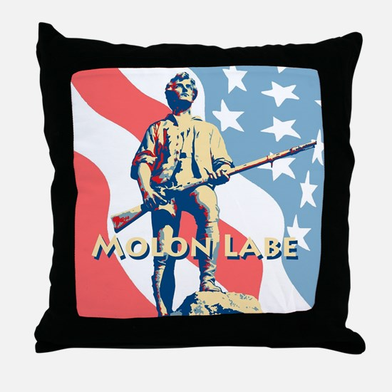 Molon Labe Minute Man N Throw Pillow