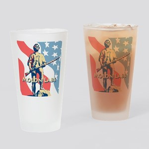 Molon Labe Minute Man N Drinking Glass