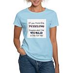 Autism Puzzle Women's Pink T-Shirt