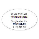 Autism Puzzle Oval Sticker