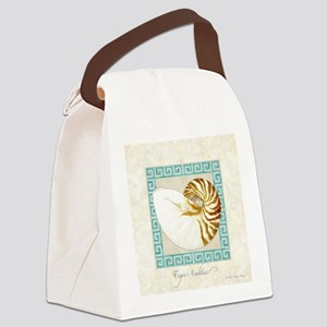 Tiger Nautilus Beach Seashell Gre Canvas Lunch Bag