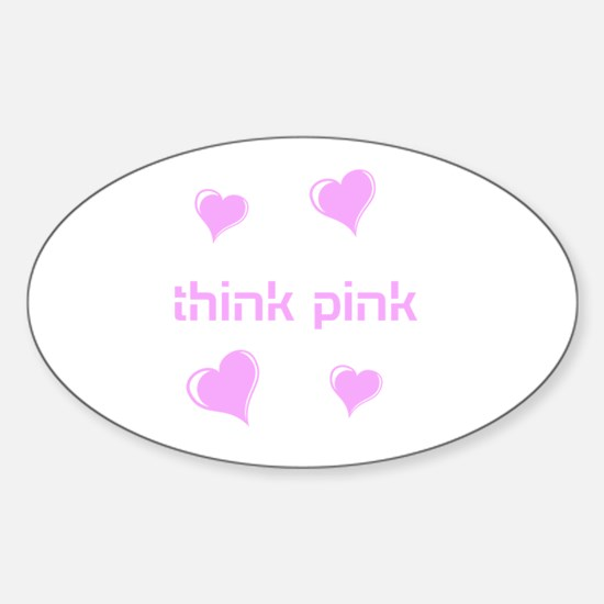 think pink, hearts Decal