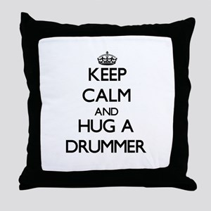 Keep Calm and Hug a Drummer Throw Pillow