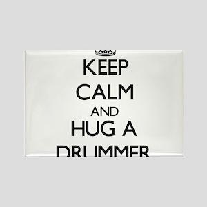 Keep Calm and Hug a Drummer Magnets