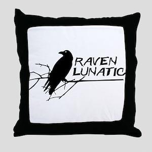 Raven Lunatic - Halloween Throw Pillow