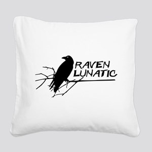 Raven Lunatic - Halloween Square Canvas Pillow