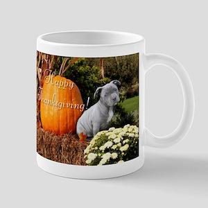 Thanksgiving Pitbull puppy Mugs