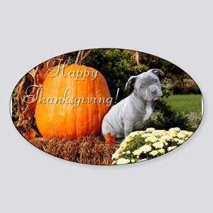 Thanksgiving Pitbull puppy Sticker