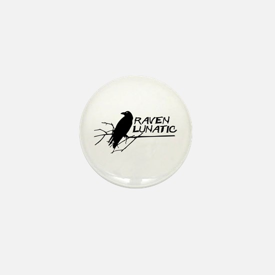 Raven Lunatic - Halloween Mini Button