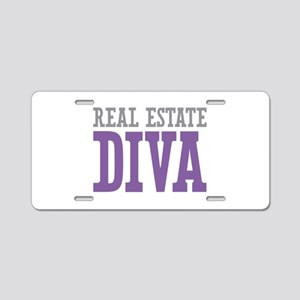 Real Estate DIVA Aluminum License Plate