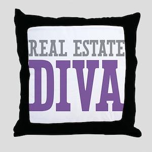 Real Estate DIVA Throw Pillow