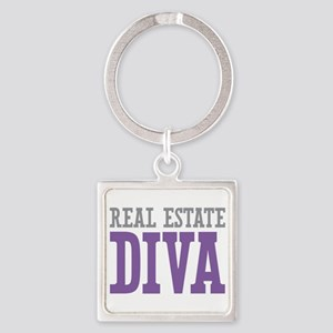 Real Estate DIVA Square Keychain