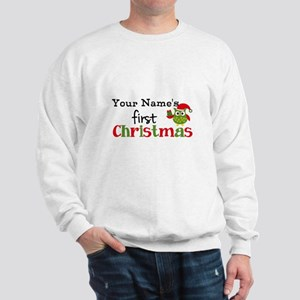 Custom Name 1st Christmas Owl Sweatshirt