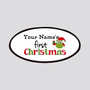 Custom Name 1st Christmas Owl Patches