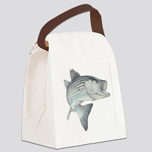stripe bass Canvas Lunch Bag