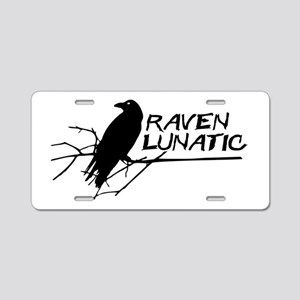 Raven Lunatic - Halloween Aluminum License Plate